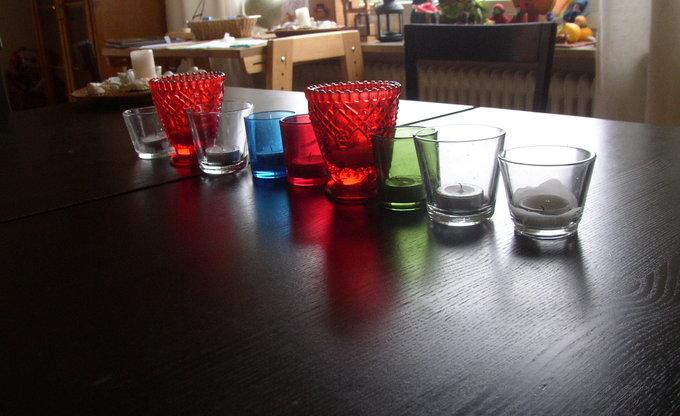 Ausgeblasene Kerzen