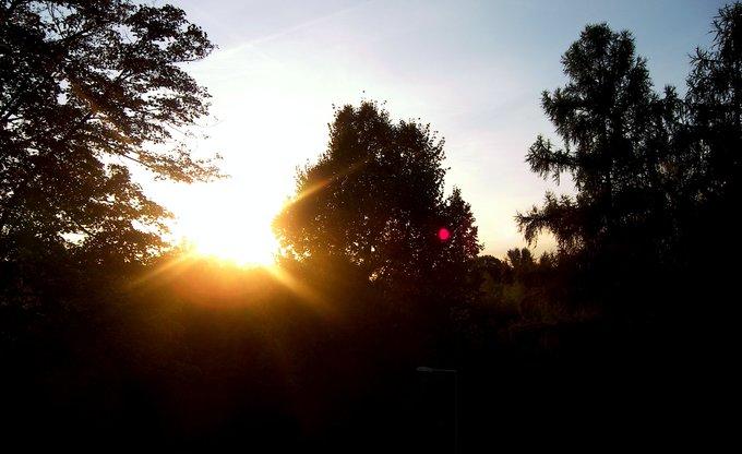 Die letzten Sonnenstrahlen.