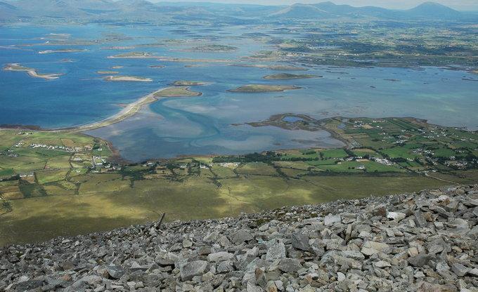 360 islands Irland - schönster Ausblick vom Croagh Patrick