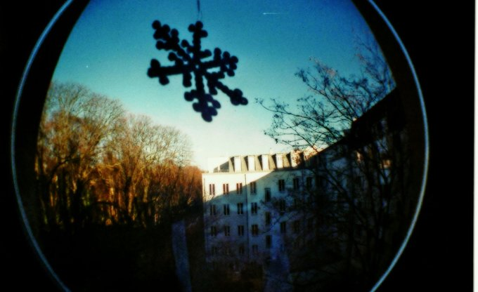 analog schneeflocke